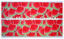 1.5 JUICY WILD WATERMELON RED SLICES SEEDS GROSGRAIN RIBBON FOR BOW HAIRBOW
