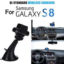 360° Qi Drahtlos Auto Ladegerät Transmitter Halter Für Samsung Galaxy S8 S7 Edge