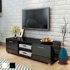 vidaXL TV Schrank Fernsehtisch Lowboard Sideboard Hochglanz Schwarz/Weiß