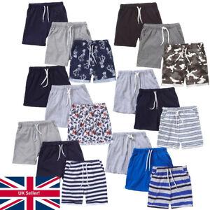 Just Essentials Boys 3 Pack Summer Shorts Striped Dinosaur Print Cotton Holidays