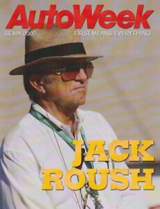 2007 Jack Roush Autoweek SEMA Show Promo NASCAR blankback postcard