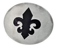 Fleur de Lis Silhouette Silver Belt Buckle Confederate Unique Metal New Hip Cool