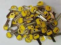 50 Stück ZE1, Kraga, Rohling, Schlüsselrohling,  gelb