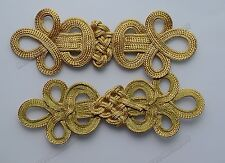 5 Golden Belt geometric Braid Sewing Chinese Frog Closure Knot Fastener Buttons