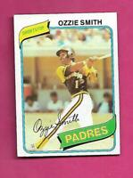 1980 TOPPS # 393 PADRES OZZIE SMITH EX-MT CARD (INV# C6419)
