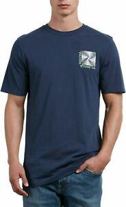 Volcom Radiator Short Sleeve T-Shirt in Navy Medium BNWT FREE CARRIAGE