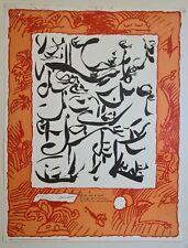 P. Alechinsky Feuille orée de verbe d'orage et d'éclaircie 1999 Affiche Original