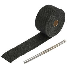 5M Black Exhaust Thermal Tape Muffler Pipe Header Heat Wrap Resistant Protection