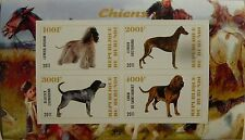 ** Dogs Afghan Levrier Greyhound Bluetick s/s Burundi 2011 mint MNH IMPERF #A025