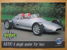 BROOKE CARS ME190 orig 1990s UK Market Sales Leaflet Brochure - ME 190