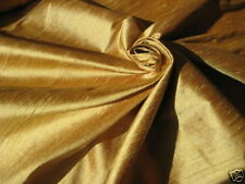 GOLD BAMBOO IRIDESCENT 100% DUPIONI SILK FABRIC WHOLESALE BOLT ROLL 32 YARDS