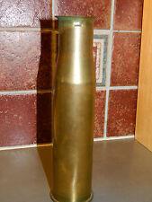 22cm GMS ancien VASE militaire en LAITON guerre WW2 1942 Artisanat FRENCH ARMY