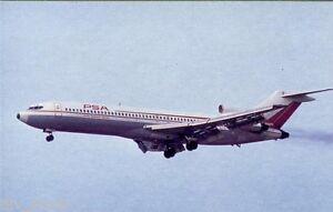 Pacific Southwest Airlines Boeing 727  airplane postcard (cd#4)