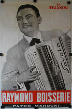Affiche RAYMOND BOISSERIE Accordéon Ann.'50 '60