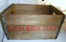 VINTAGE CANADA DRY WOOD CRATE 1953 SHOWS PATENT NUMBER RARE