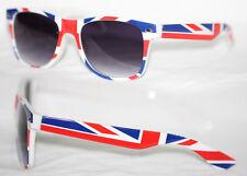 Retro Sonnenbrille England Flagge Britain Flag Herren u. Damen weiß rot blau 884