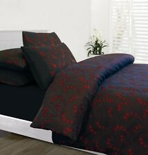 New Accessorize Odeon Black Red Jacquard SINGLE Size Quilt Doona Cover Set