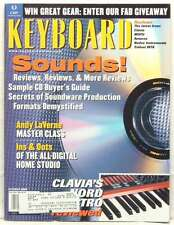 KEYBOARD MAGAZINE SOUNDS REVIEWS ANDY LEVERNE VLAGIA NORD ELECTRO REVIEWED RARE