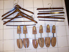 VINTAGE NORDSTROM 3 SETS OF SUIT & PANTS HANGERS, 3 MEDIUM CEDAR SHOE TREES