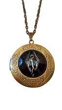 "Elder Scrolls SKYRIM Logo Glass Dome Locket PENDANT on 22"" Chain"