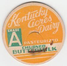 MILK BOTTLE CAP. KENTUCKY ACRES DAIRY. CRESTWOOD, KY.