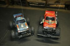 Vintage Lot of 2 RC Trucks Parts or Repair Remote Control Vehicle Toy NIKKO