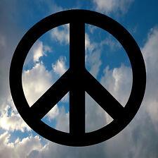 PEACE SIGN HIPPY CAR VAN WINDOW DECAL STICKER LAPTOP IPAD x2