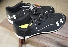 Under Armour BASEBALL CLEATS 1246694 Men Ignite Low Shoe Black Size 11.5