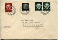 GERMANY #490 #491 Cover Stamps Postage Stuttgart City of foreign Germans Cancel
