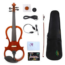 Yinfente Electric Silent Violin 4/4 Wooden Sweet Tone Free Case+Bow #EV5