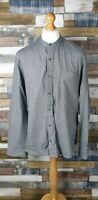 Next Grey Cotton Long Sleeved Mens Casual Shirt Size XL
