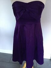 BHS Ladies Purple Detatchable Straps Party Dress Size 12. BNWT RRP £40.