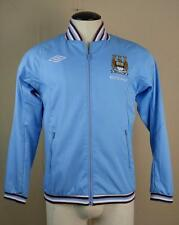 Mens Womens Umbro Blue ETIHAD Manchester City Football Club Soccer Jacket Small