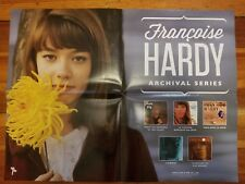 Françoise Hardy 2016 Light In the Attic promo poster, Gainsbourg, Dutronc