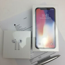 Brand New Apple Airpods + Apple iPhone 10 X 256GB Space Grey Black 5% off PICK5