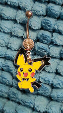 Pichu  Pokemon  Belly Ring Navel Ring 14G Surgical Steel Dangle
