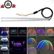 2x 7 Color RGB Knight Rider Scanner Flash Car Strobe Light Kit Strip Grille Lamp