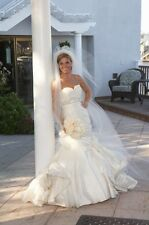 INES DI SANTO WEDDING GOWN, MERMAID/CUSTOMIZED, SIZE 4, COLOR IVORY