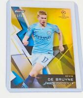 Kevin De Bruyne Topps Finest Soccer Card 2017-2018 Manchester City English NM