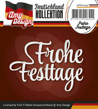 "Stanzschablone - ""Frohe Festtage""  -  Textschablone  von Amy Design (ADD10057)"