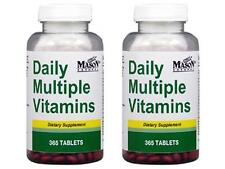 2 X 365 = 2 Years TABLETS DAILY MULTIPLE VITAMINS ONE A DAY DIETARY SUPPLEMENT
