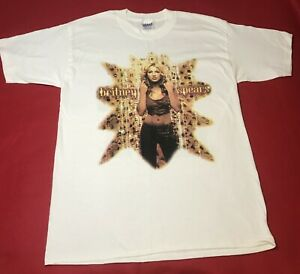 Vintage BRITNEY SPEARS Oops 2000 Tour T - Shirt - Large