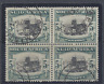 SOUTH AFRICA 1933 5s BLACK AND GREEN BLOCK OF 4 USED  SG 64