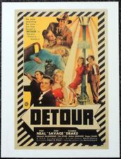 DETOUR 1945 FILM MOVIE POSTER PAGE . TOM NEAL . ANN SAVAGE . 411