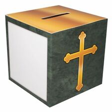 50 Christian Fundraising Offering Box Family Size with Cross Cardboard, 50 Boxes