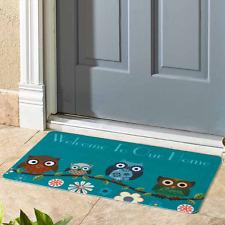 Welcome Mats For Front Door Outdoor Poly Rubber Floor Mat Home Porch Decor Owls