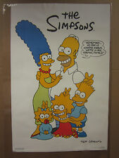 """Vintage 1990 The Simpsons poster """"..we're a nice normal family"""" tv show  3716"""