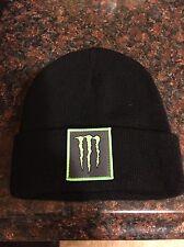 Monster Energy Knit Beanie Winter Hat Black Brand New Never Worn  1LEFT