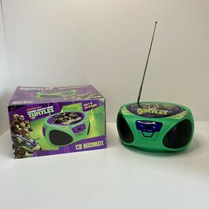 Teenage Mutant Ninja Turtle TMNT Boombox CD Player Radio