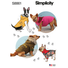 Simplicity Sewing Pattern 8861 A Dog Coat
